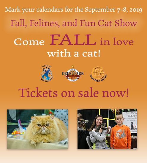 Cat Show Graphic - Tickets on sale now!