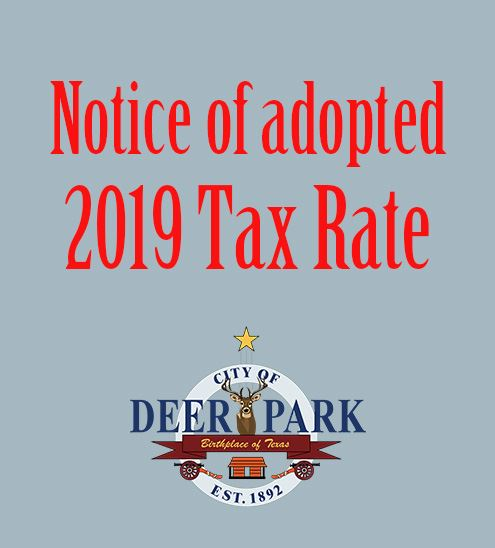 Tax rate notice - 2019