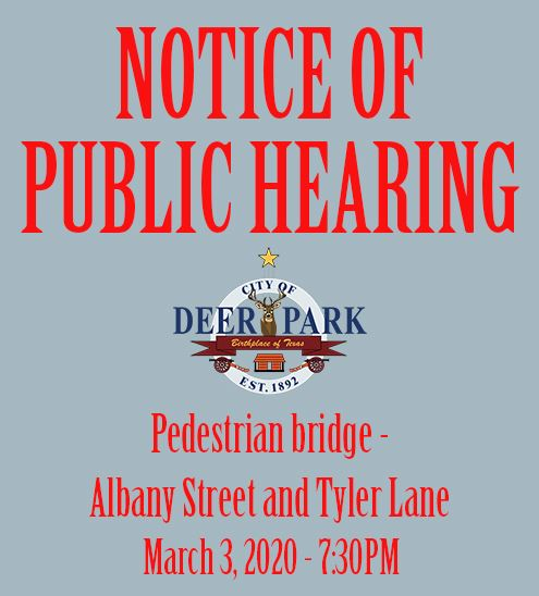 Notice of Public Hearing - Bridge