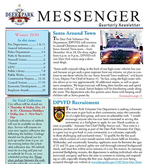 2020 Messenger Winter cover