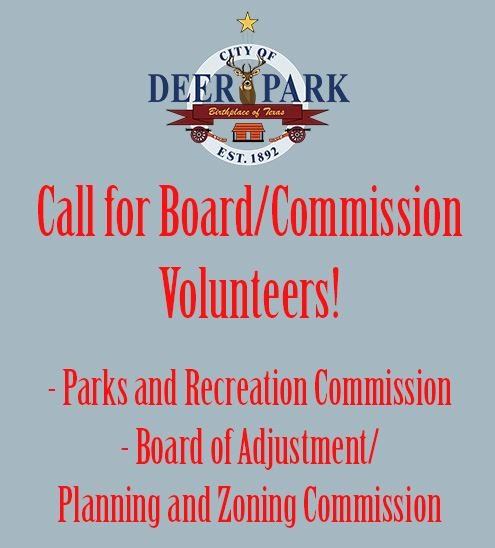 Board-Commission volunteer - Parks and Recreation Commission and PNZ