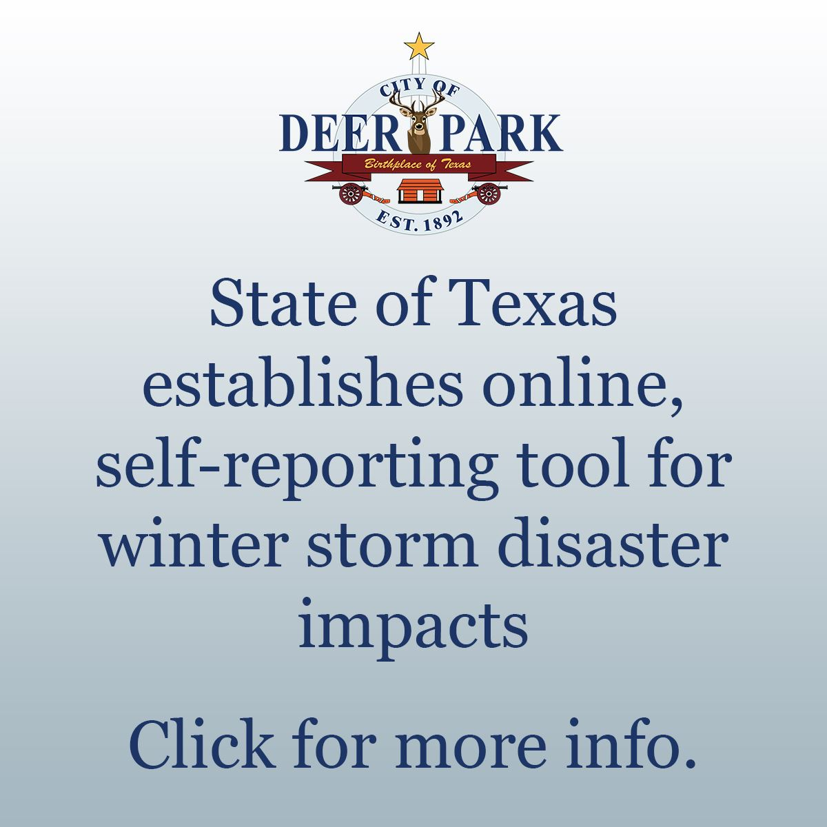 State disaster reporting tool