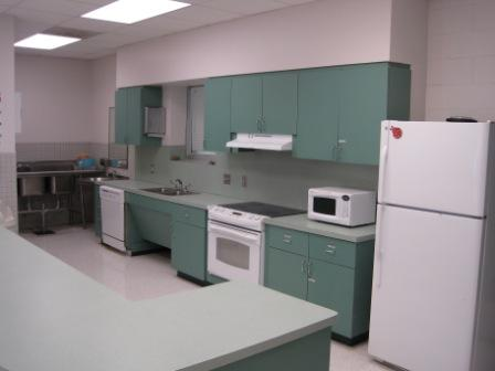 Photo of the Claude Burgess Center's Kitchen