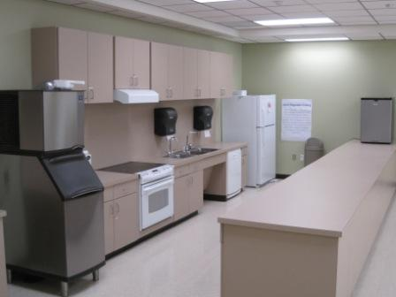 Photo of the Deer Park Community Center's kitchen for room 12.